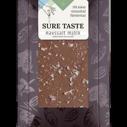 """Chokladkaka """"Havssalt Mjölkchoklad"""" utan tillsatt socker"""