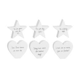 Stående Hjärta/Stjärna