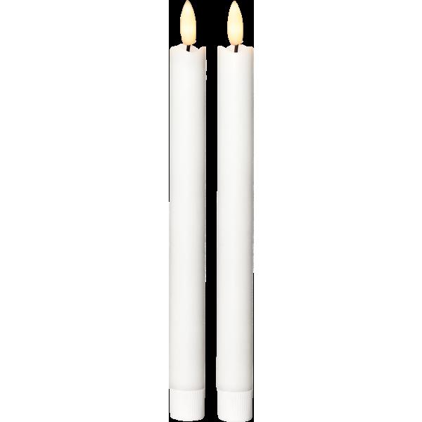 Antikljus 2-pack Flamme 25 cm, med timer