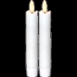 Antikljus 2-pack Flamme 15 cm, med timer