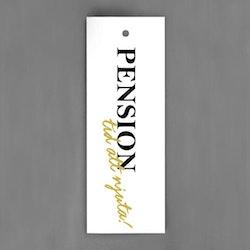 Pension tid att njuta