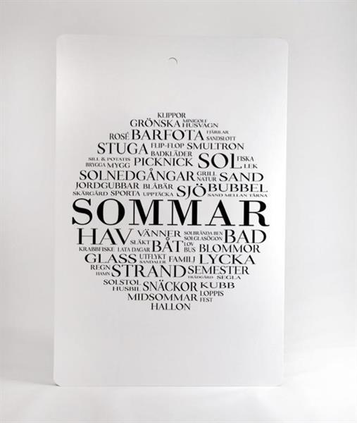 """Skärbräda """"Sommar"""""""