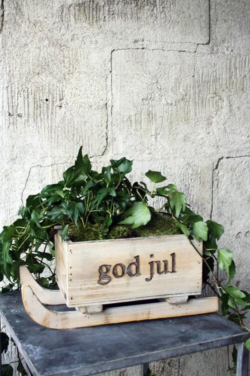 """Släde med text """"God Jul"""""""