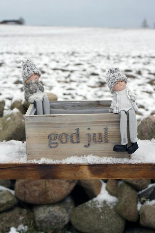 """Trälåda med text """"God Jul"""""""
