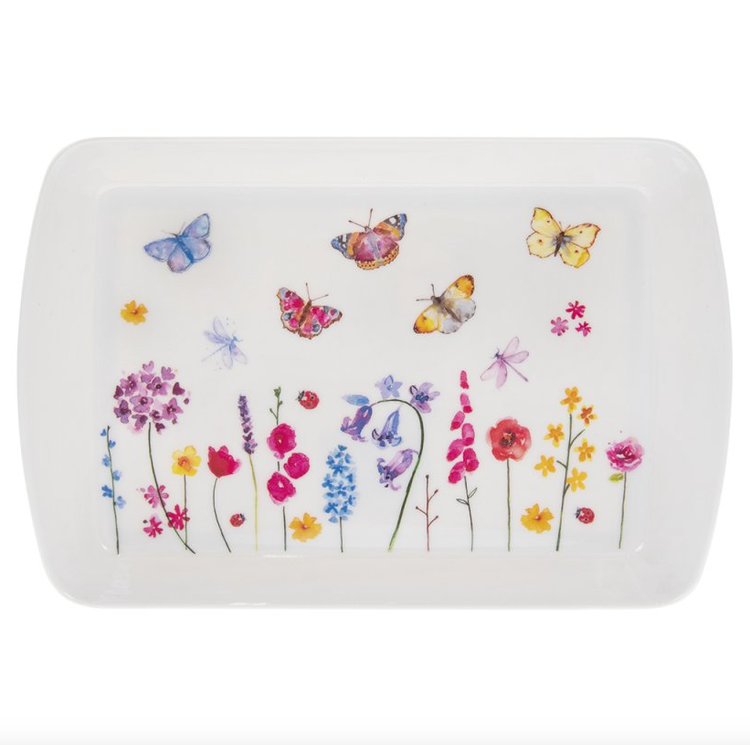 Butterfly Garden bricka 21x14 cm