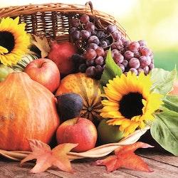 """Servett """"Pumpa, frukt & solros"""""""