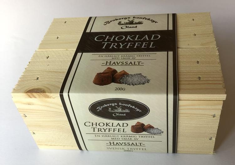 Chokladtryffel i träask