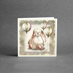 Barnkort med kanin, utan text