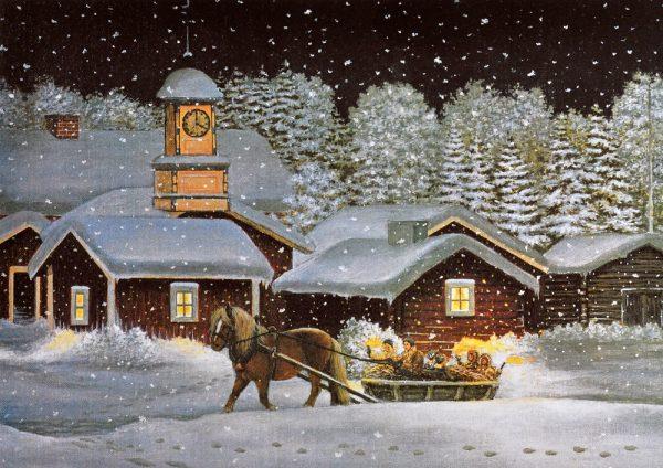 Tallriksunderlägg Julottefärd