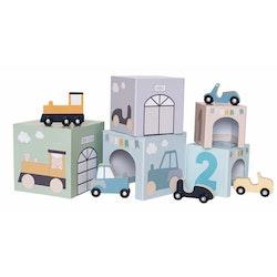 Stapelbar kub med fordon