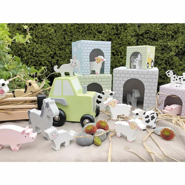 Traktor med djur