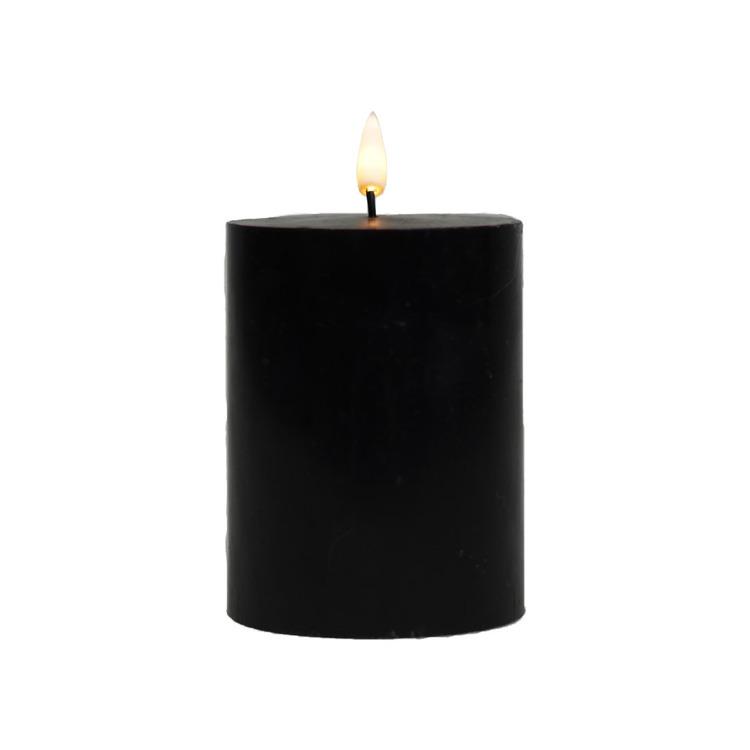 LED-lys Kubbe 7,5 x 9 cm Sort