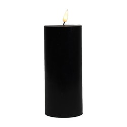 LED-lys Kubbe 7,5 x 16,5 cm Sort