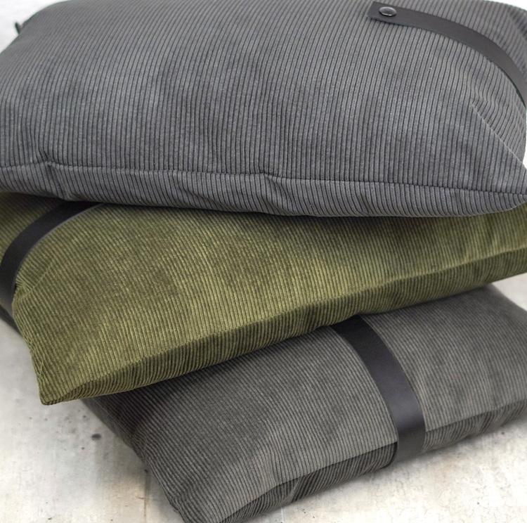 Pute Fløyel Mørkegrå 40x60