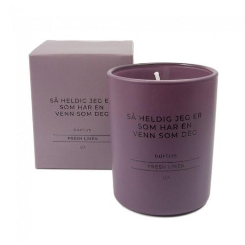Duftlys Fresh Linen - Venn som deg