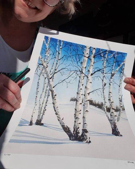 Fine Art Print - Ateljé Paradiset - Konst av Mia Älegård