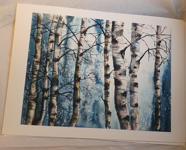 Fine Art print - Blå björkar