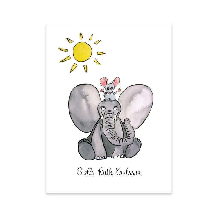 Elefant & mus i solen