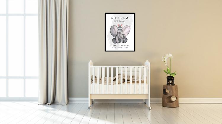 Elefant & mus (namn ovanför)