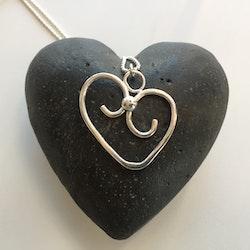 Hjärta med silverkula