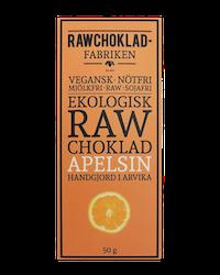 Rawchokladfabriken - Ekologisk rawchoklad 73% - Apelsin