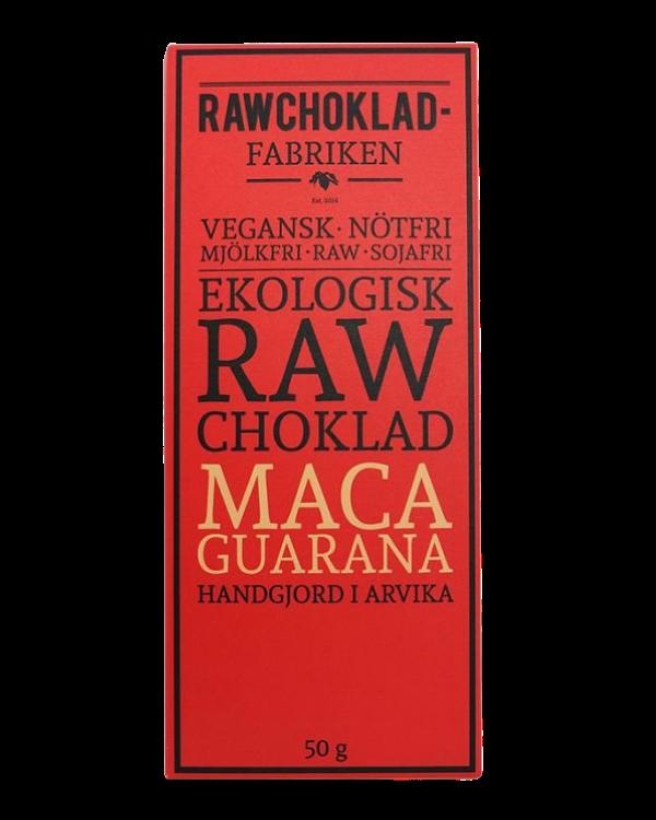 Rawchokladfabriken - Ekologisk rawchoklad 73% - Maca & Guarana