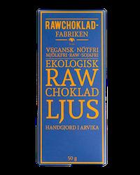 Rawchokladfabriken - Ekologisk rawchoklad 63% - Ljus