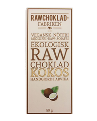 Rawchokladfabriken - Ekologisk rawchoklad 67% - Kokos