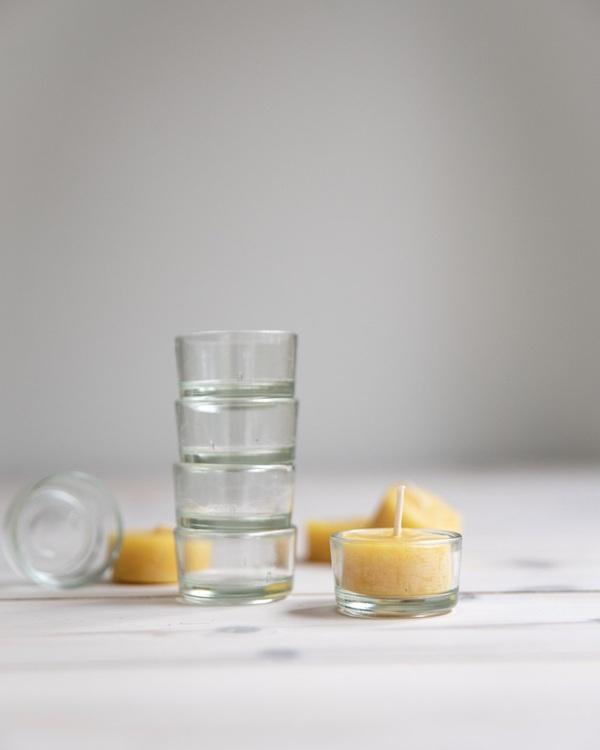 Svenska Bivaxljus - Glaskopp för värmeljus