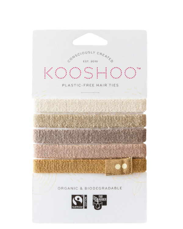 Kooshoo - Ekologiska hårsnoddar - 5-pack - Blonde