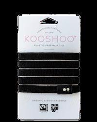 Kooshoo - Ekologiska hårsnoddar - 5-pack - Svart