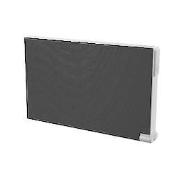 YALI RAMO PLAN FRONT MED VANNRETTE LINJER Varmeovn 750W, 230V H=500 L=500 Dobbelt panel