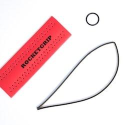 2 x CUSTOMIZED ROCKETGRIP (Svart) - Kråkene Moss