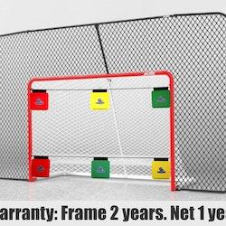 Hockeymål Med Backstop + Pro Shooting Targets