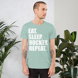 T-skjorte ''EAT. SLEEP. HOCKEY. REPEAT.''