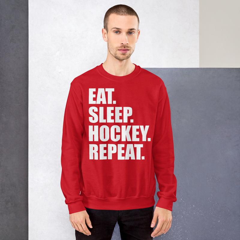 "Genser ""EAT. SLEEP. HOCKEY. REPEAT.''"