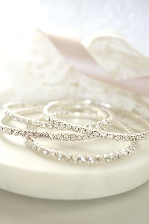 Gnistrende krystall Tennisarmbånd