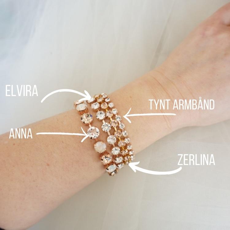 Zerlina krystallarmbånd
