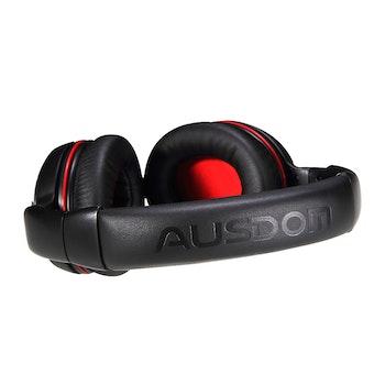 AUSDOM M04S Bluetooth 4.0 + EDR headset NFC Svart+röd