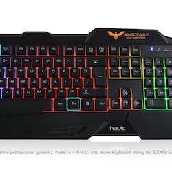 Havit Gaming Keyboard & Gamingmus Combo Nordiskt