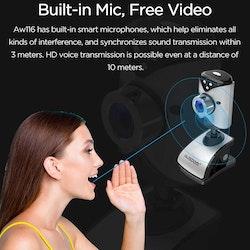 AUSDOM AW116 SD-webcam