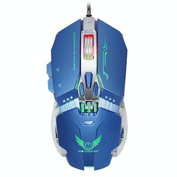ZERODATE  X800 USB 8 programmerbara knappar 3200 DPI Blå