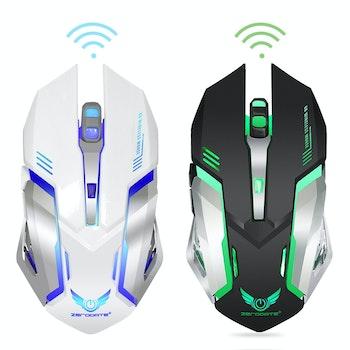 ZERODATE X70 2,4 GHz trådlös  2400 DPI optisk Gaming Mus LED svart