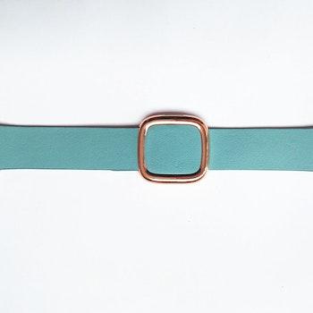 Modern Rosegold Buckle Läderarmband till Apple Watch 42/44mm Ljusblå