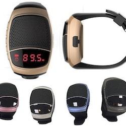 Sportklocka med minihögtalare och Fm radio  B90 Rosa