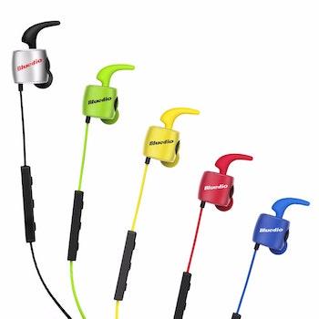 Bluedio TE Bluetooth 4.1. Sport headset. Grön
