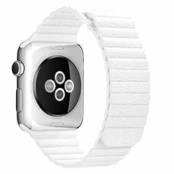 För Apple Watch 38/40mm Loop magnetlåsspänne PU läder armband Brun