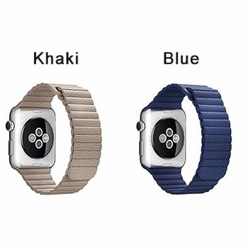 För Apple Watch 38/40mm Loop magnetlåsspänne PU läder armband