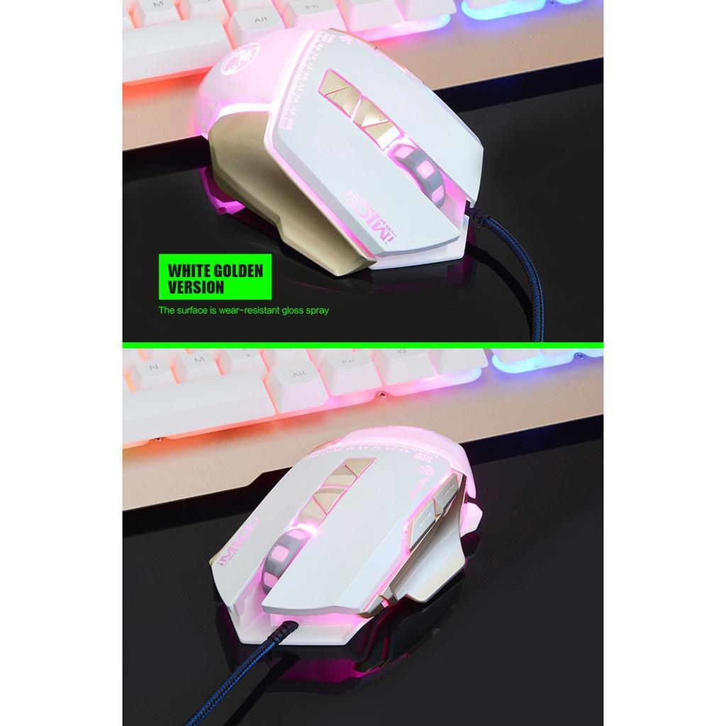 iMICE V9 Hög Precision Gamingmus USB 7knappar 4000 DPI