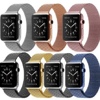 Milanese Loop Magnetic Rostfritt apple watch armband 42/44 mm SilverSilver